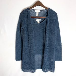 Jones New York Knit Sweater Cardigan Set